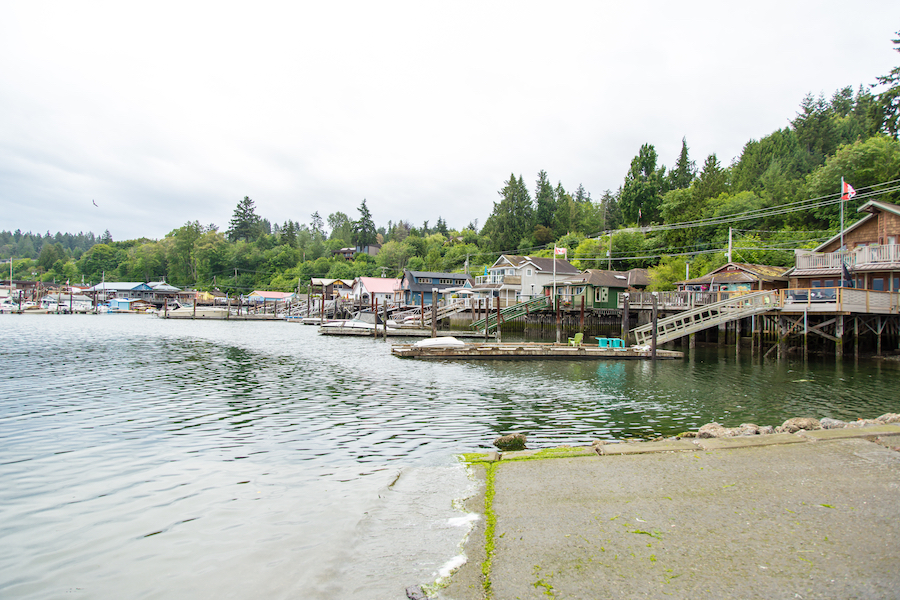 The village of Cowichan Bay in Canada.
