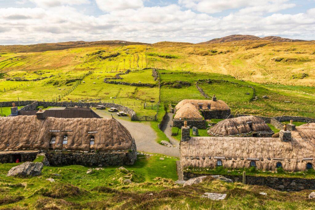The village of Gearrannan in Scotland.