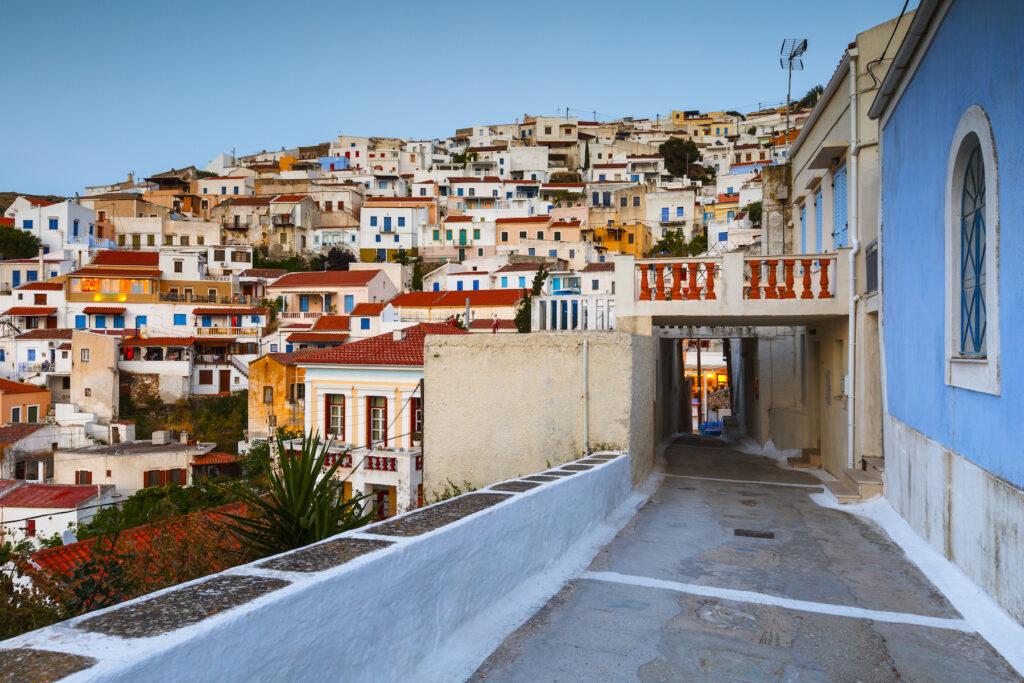 The village of Ioulida on the Greek island of Kea.