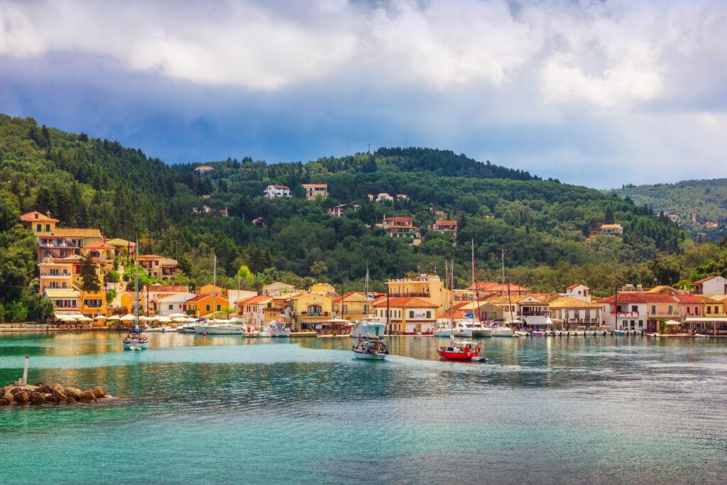 The village of Lakka on the island of Paxos.