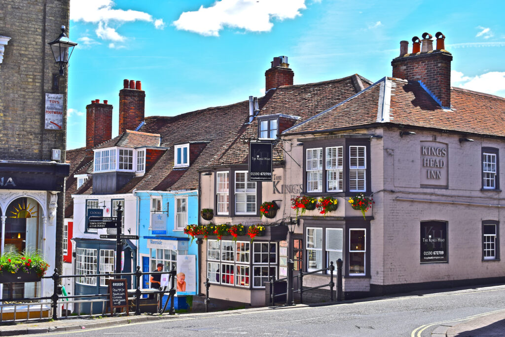 The village of Lymington in the New Forest.