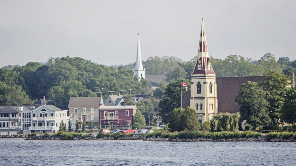 The village of Mahone Bay in Nova Scotia, Canada.