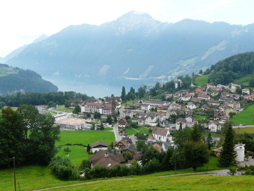 The village of Morschach in Switzerland.