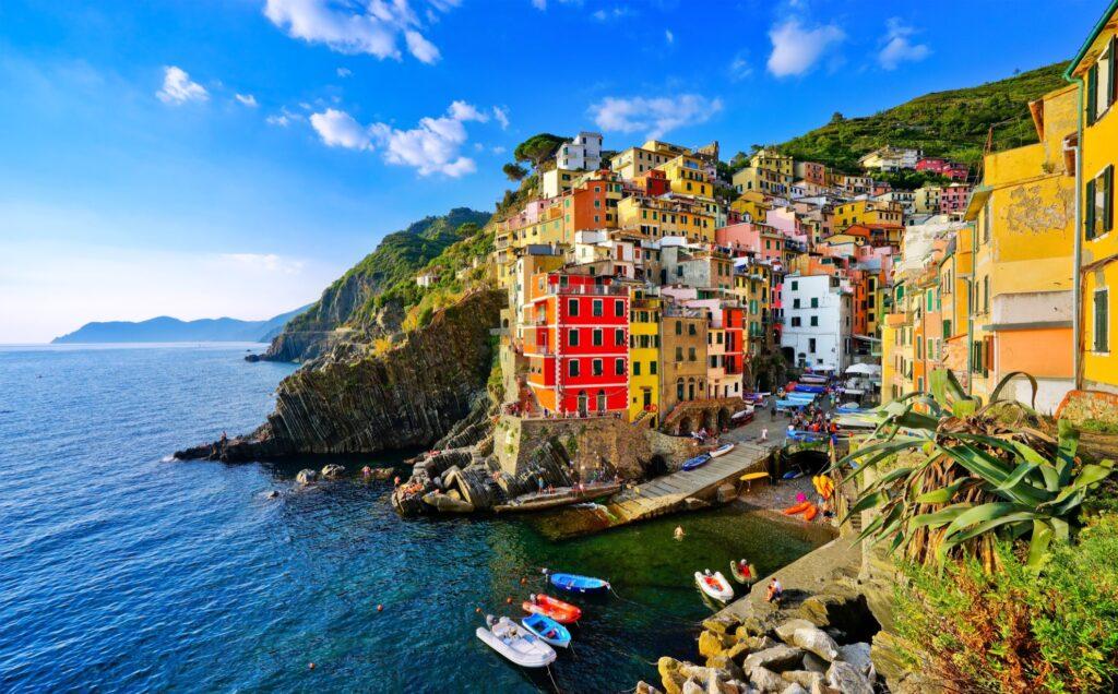 The village of Riomaggiore in Cinque Terre.
