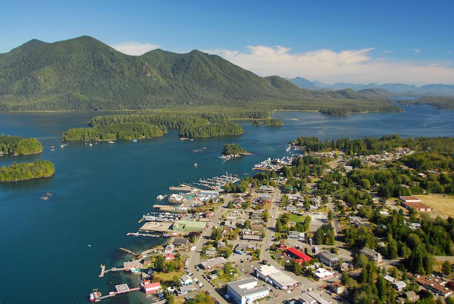 The village of Tofino in Canada.