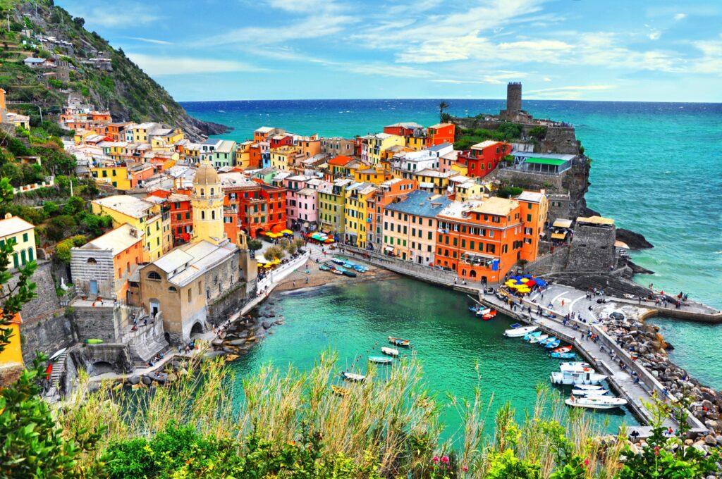 The village of Vernazza in Cinque Terre.