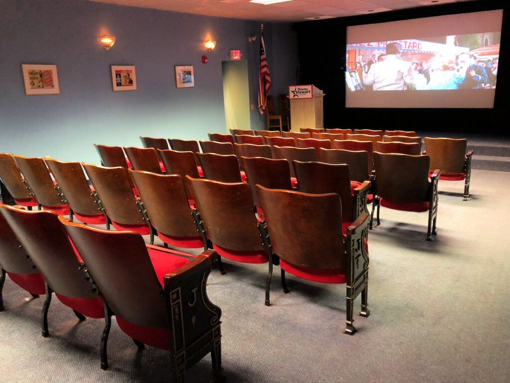 The vintage theater at the Jimmy Stewart Museum.