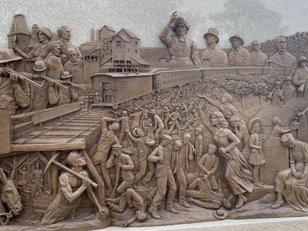 The Virden Miner's Riot Memorial in Illinois.