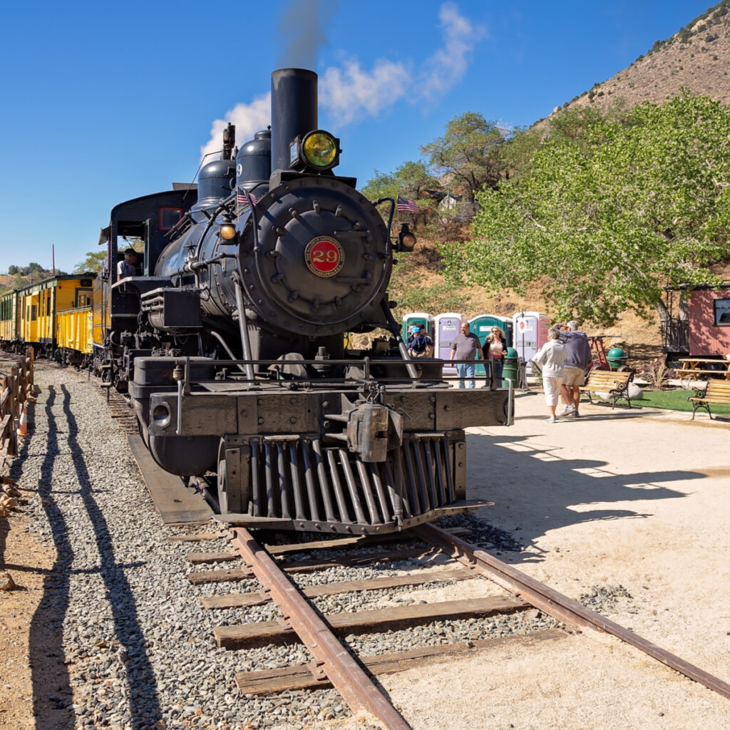 The Virginia and Truckee Railroad in Nevada.