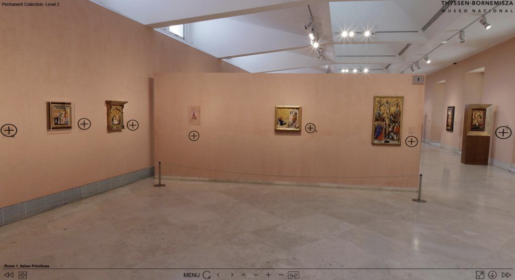 The virtual tour of Museo Nacional Thyssen-Bornemisza.