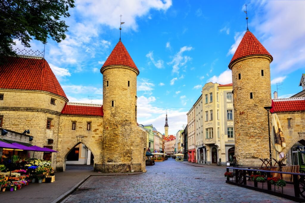 The Viru Gate in the Old Town of Tallinn.