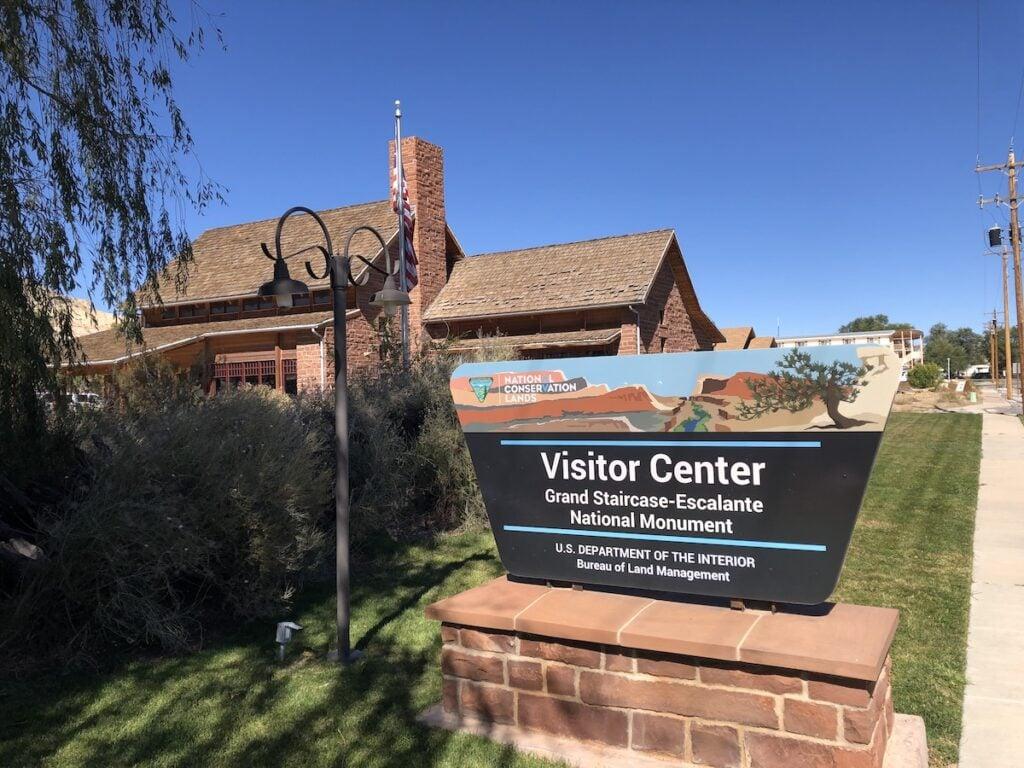 The Visitor Center at Grand Staircase-Escalante.