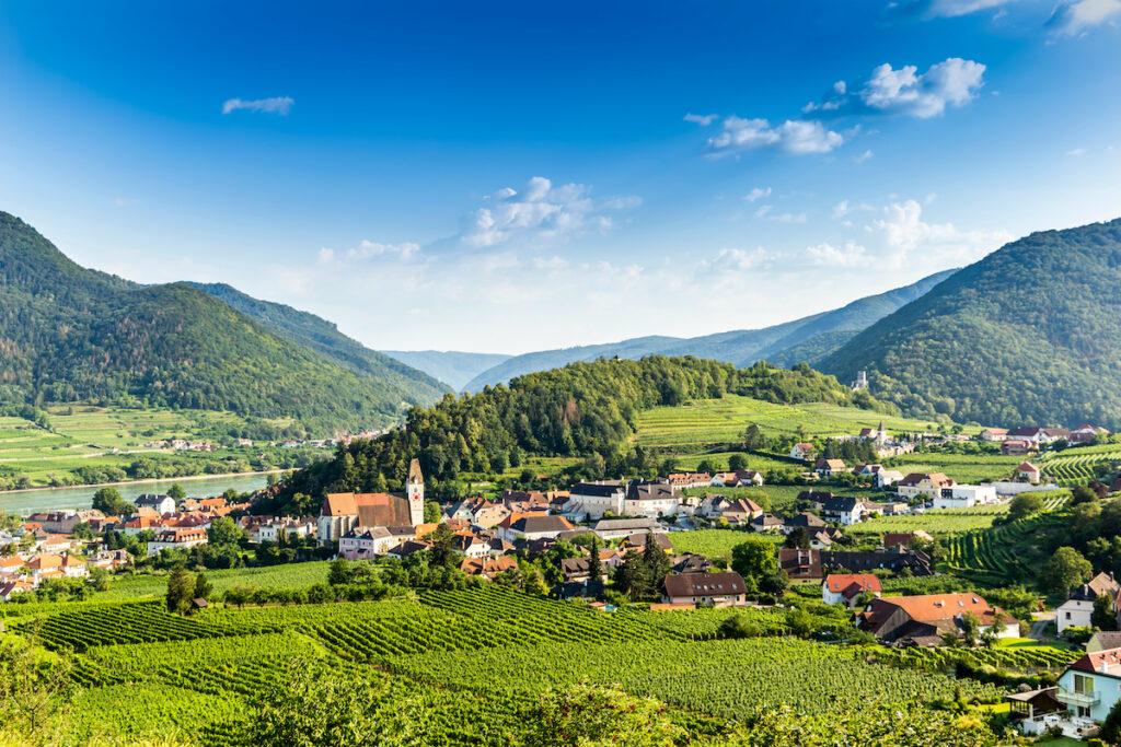 The Wachau Valley, a UNESCO Heritage Site in Austria.