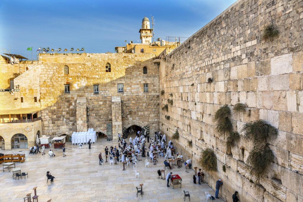The Wailing Wall in Jerusalem.