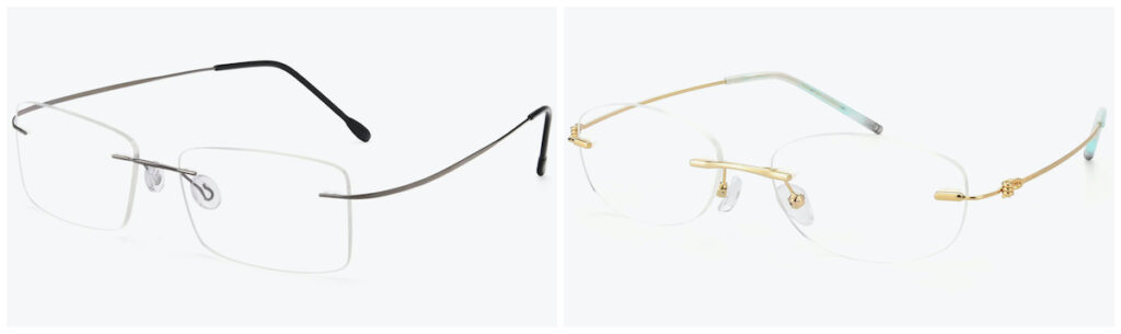 The Wall and gold metal oval blue light blocking glasses from Yesglasses.