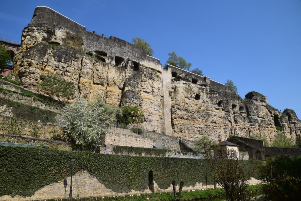 The wall of Casemates Du Bock.