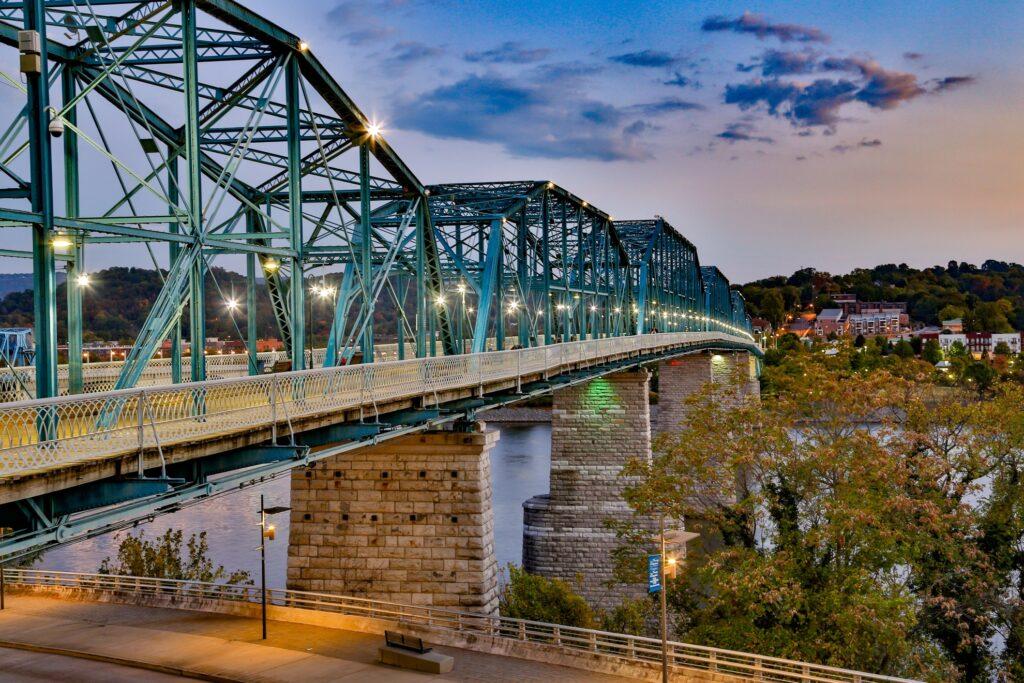 The Walnut Street Bridge in Chattanooga.