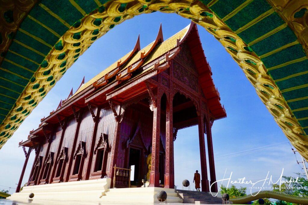 The Wat Ao Noi temple in Prachuap.