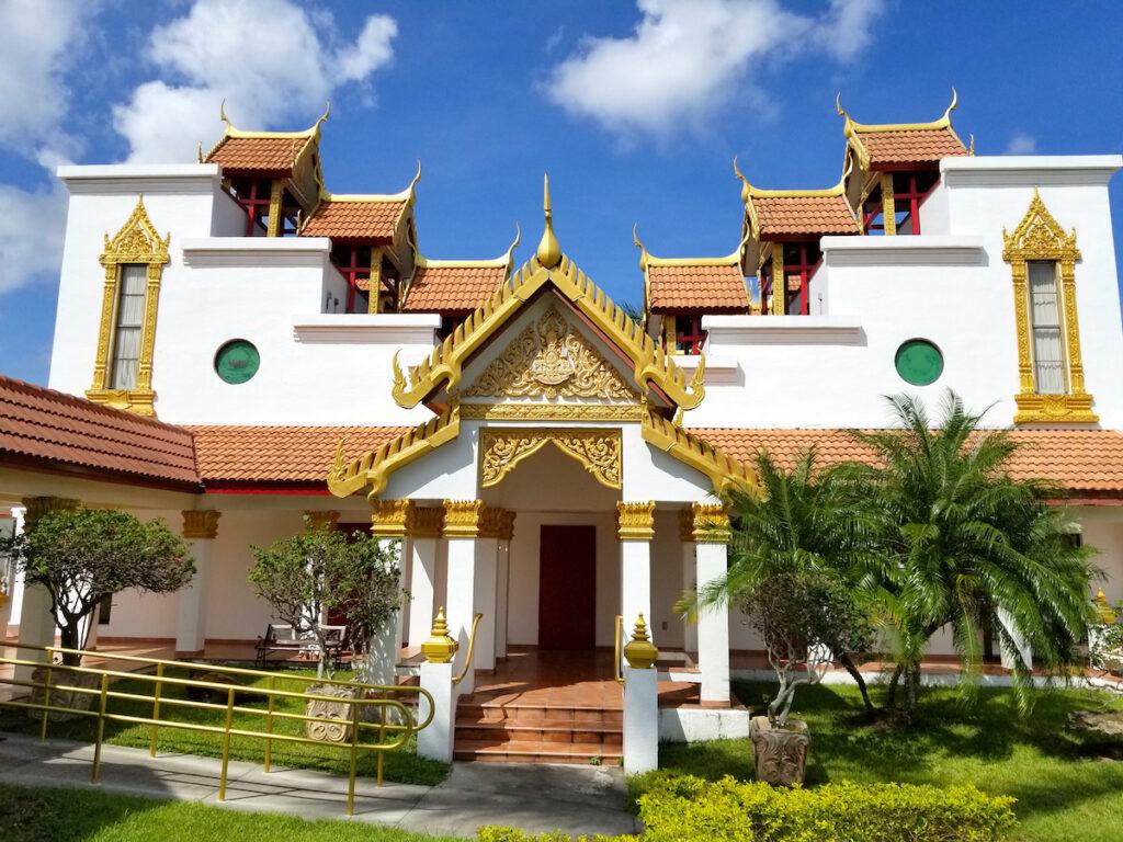 The Wat Buddharangsi Buddhist Temple in Miami, Florida.