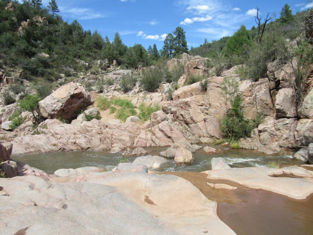 The Water Wheel Falls trail in Arizona.