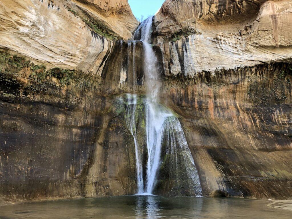 The waterfall at Calf Creek Recreation Area in Utah.