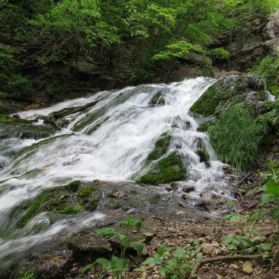 The waterfall at Dunning's Spring Park in Decorah.