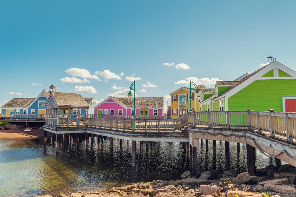 The waterfront boardwalk in Summerside, Prince Edward Island.