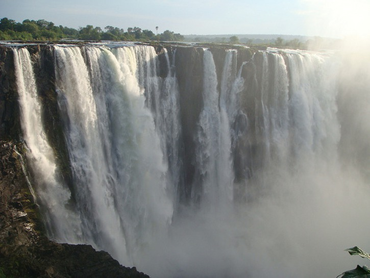 The waters at Victoria Falls.