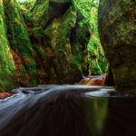 The waters of Devil's Pulpit in Scotland.