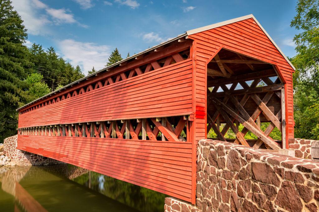 The Waterworks Covered Bridge near Gettysburg, Pennsylvania.