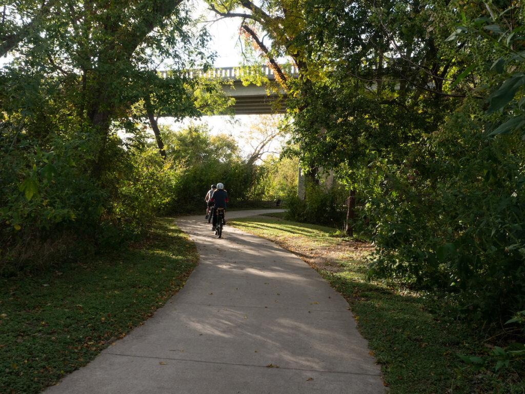 The Waxahachie Creek Hike and Bike Trail in Texas.
