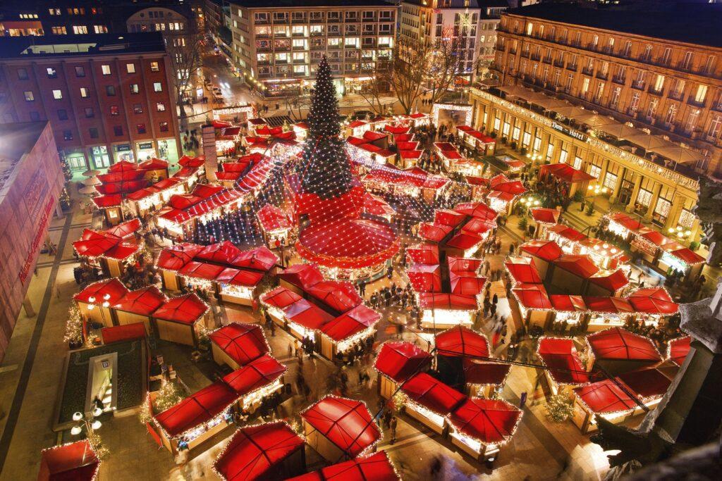 The Weihnachtsmarkt Am Kolner Dom in Germany.