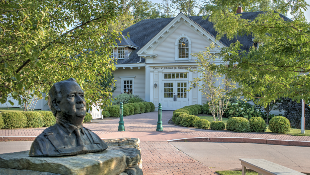 The Welcome Center at the Hildene estate.