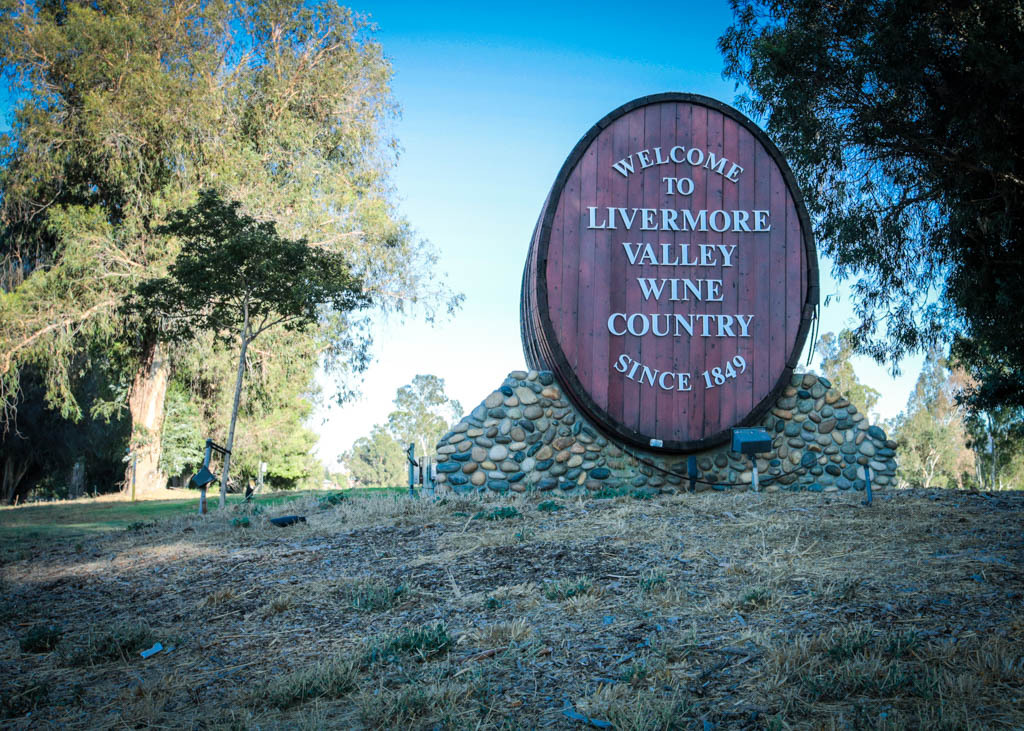 The welcome sign upon entering Livermore.