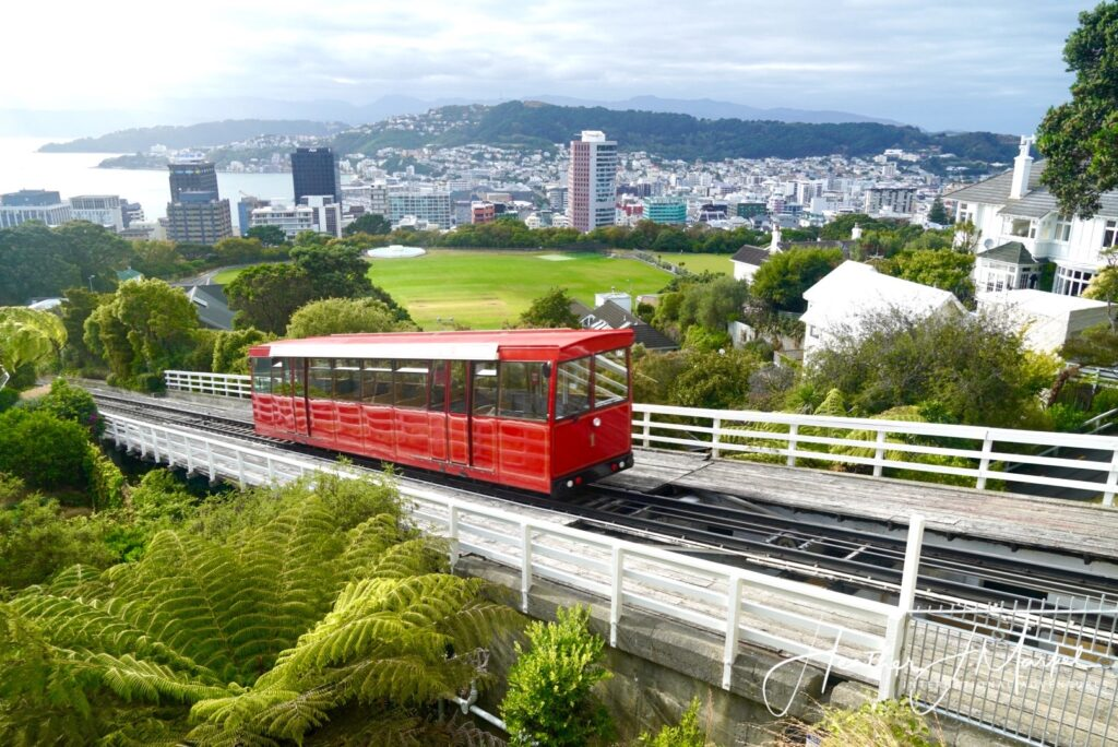 The Wellington Cable Car in New Zealand.
