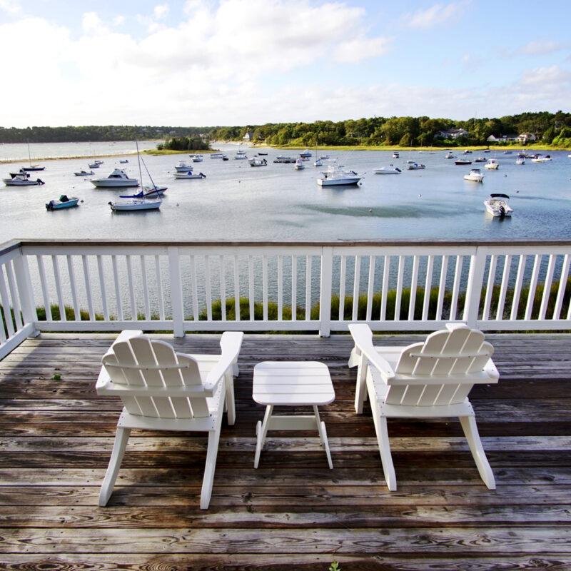 The Wequassett Inn, overlooking the Atlantic Ocean.