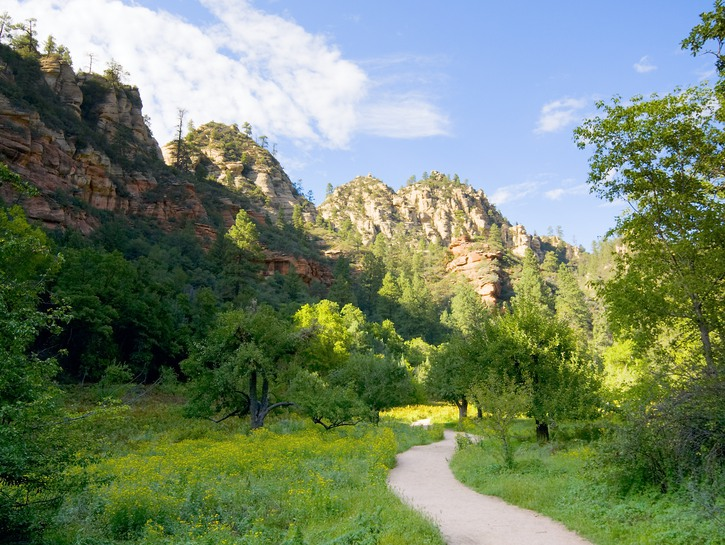 The West Fork trail in Sedona, Arizona.