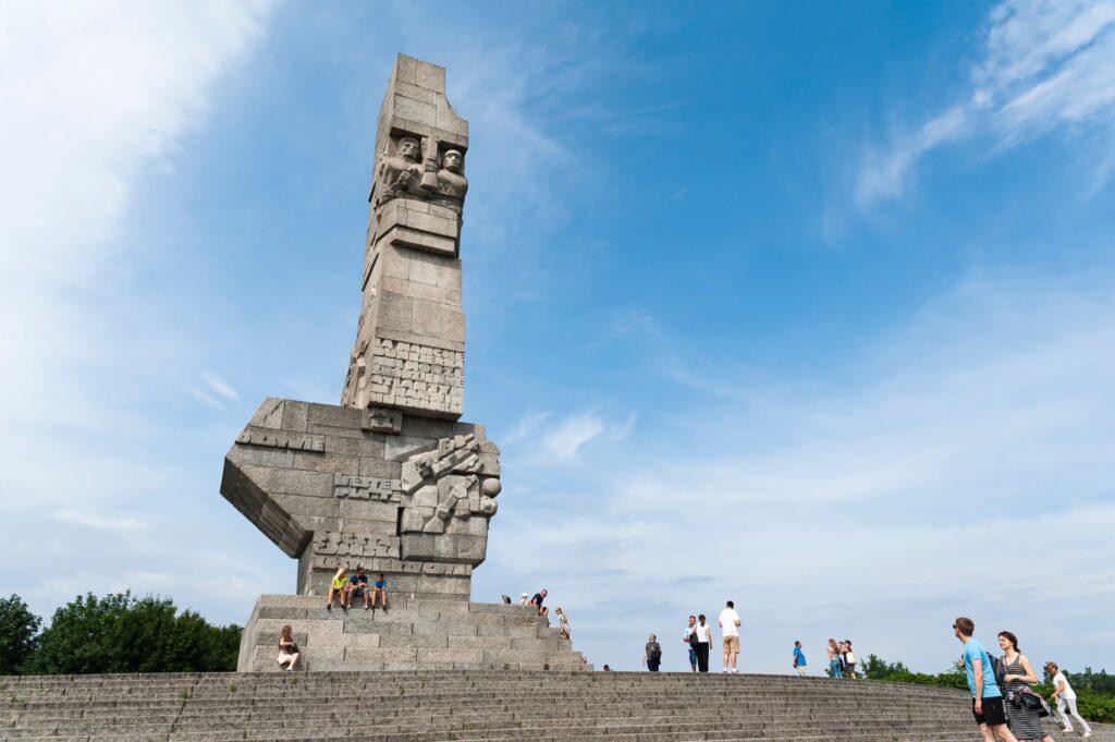 The Westerplatte memorial in Poland.