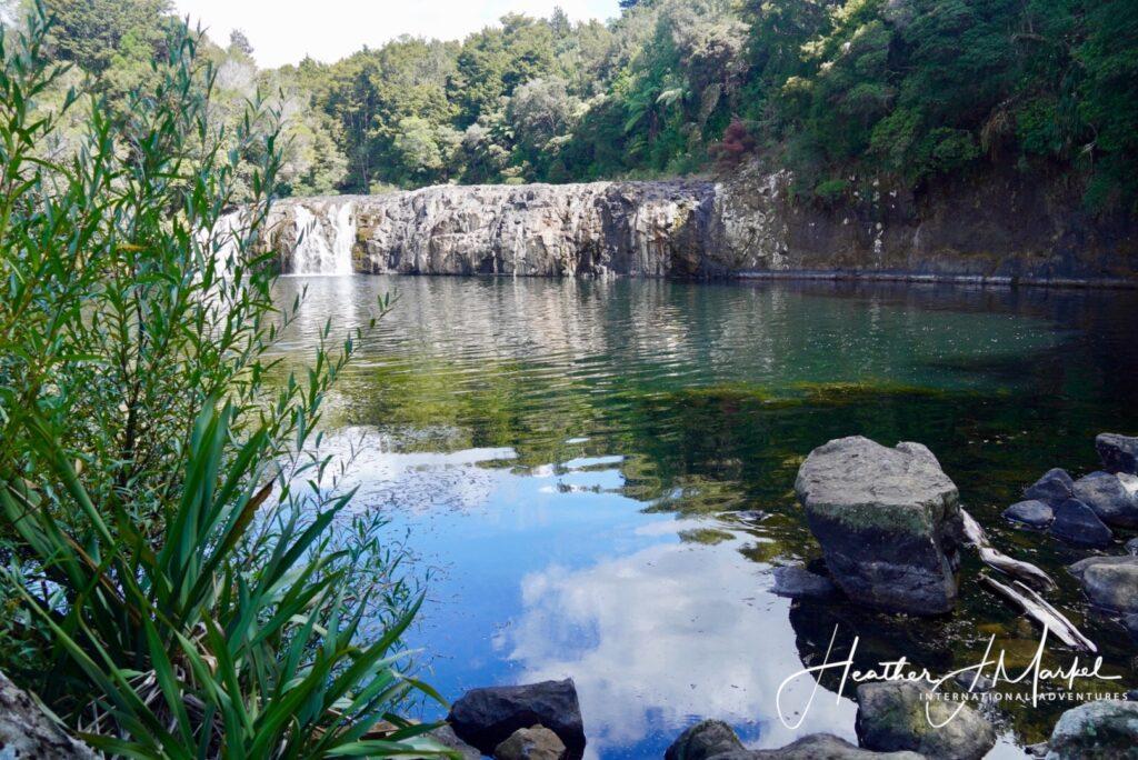 The Wharepuke Waterfall in New Zealand.
