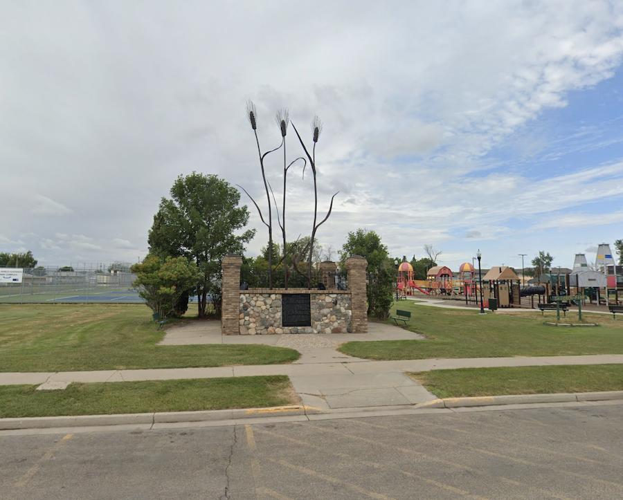 The Wheat Monument in Williston, North Dakota.