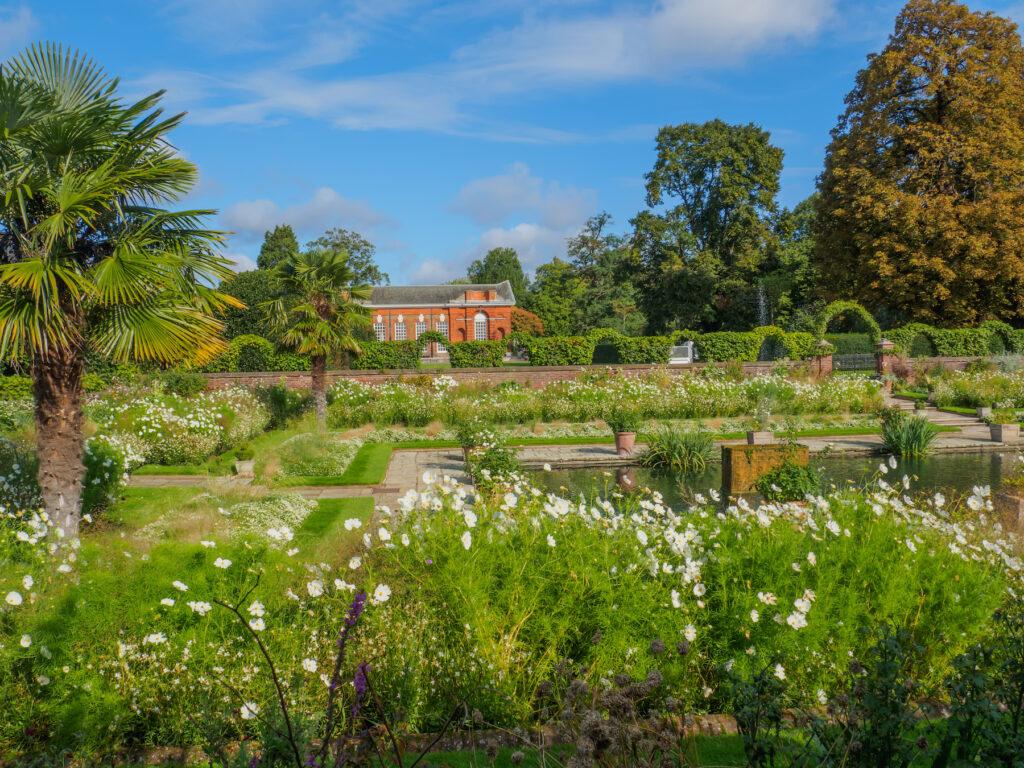 The White Garden at Kensington Palace.
