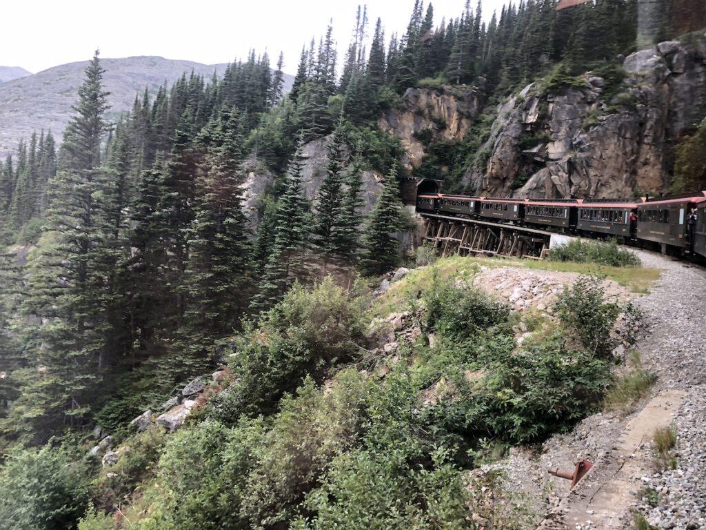 The White Pass and Yukon Route Railroad in Skagway, Alaska.