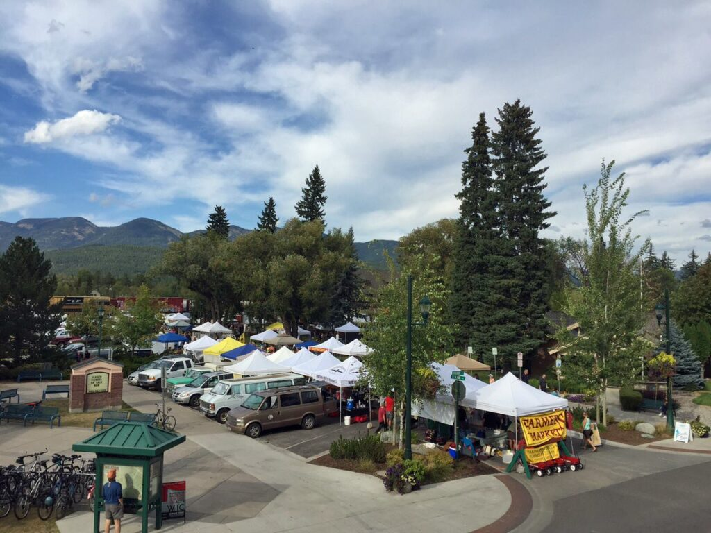 The Whitefish Downtown Farmers Market.