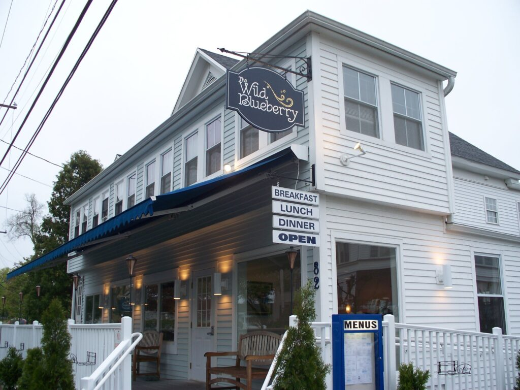 The Wild Blueberry Cafe in Ogunquit, Maine.