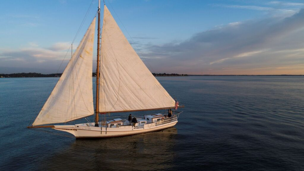 The Wilma Lee, a skipjack in Annapolis.