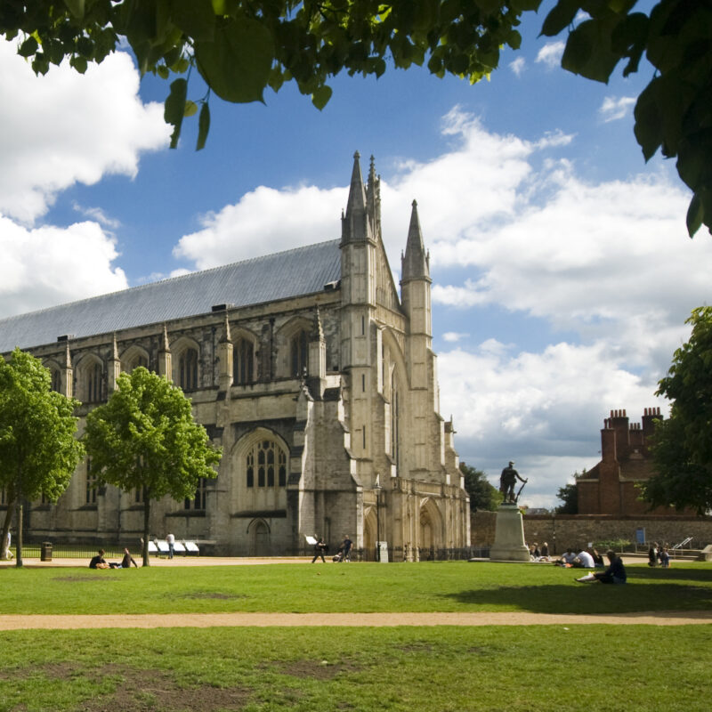 The Winchester Cathedral in Winchester, England.