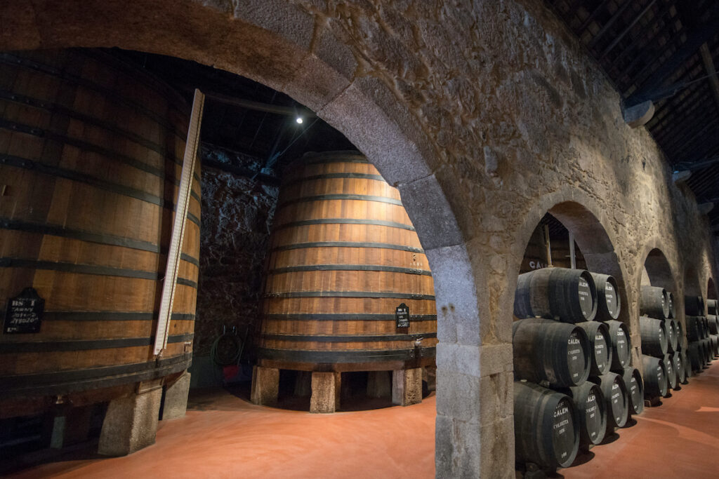 The wine cellars at Calem in Portugal.