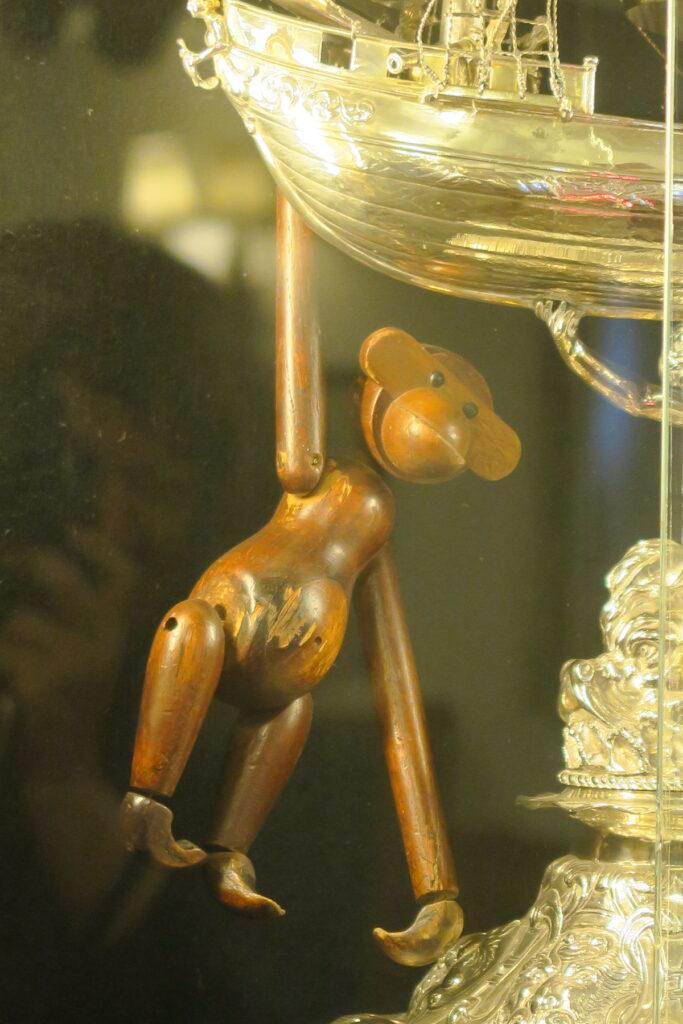 The wooden monkey on board the Royal Yacht Britannia.