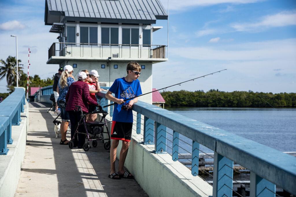 The World's Fishingest Bridge on Florida's Pine Island.