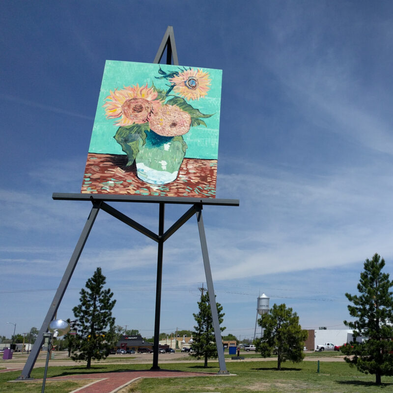 The world's largest Van Gogh painting in Kansas.